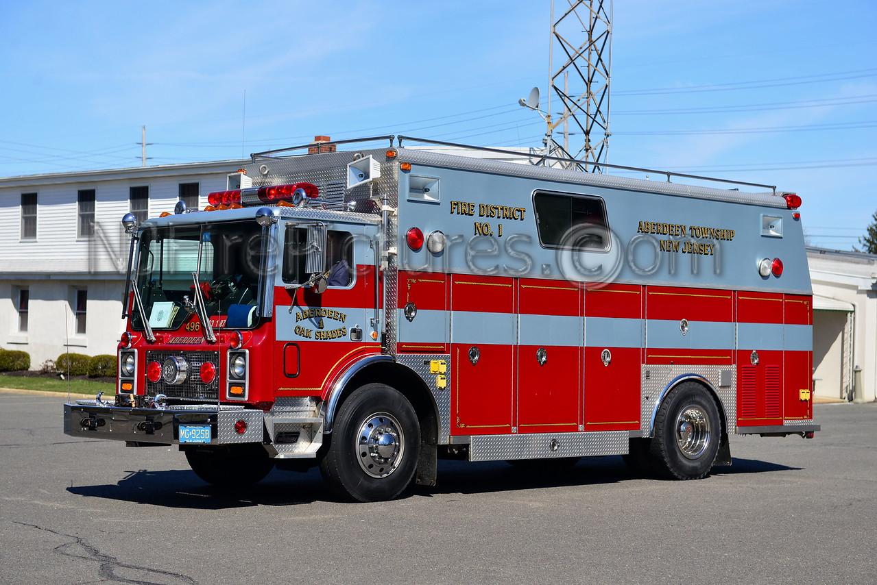 ABERDEEN NJ OAK SHADES FIRE CO. RESCUE 63-1-87