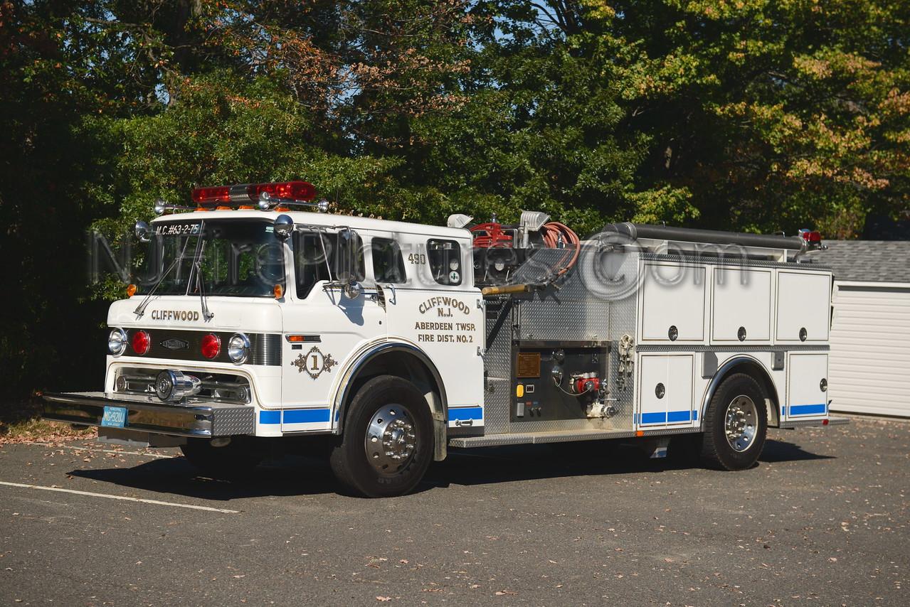 ABERDEEN TOWNSHIP, NJ ENGINE 63-2-75 CLIFFWOOD F.C.