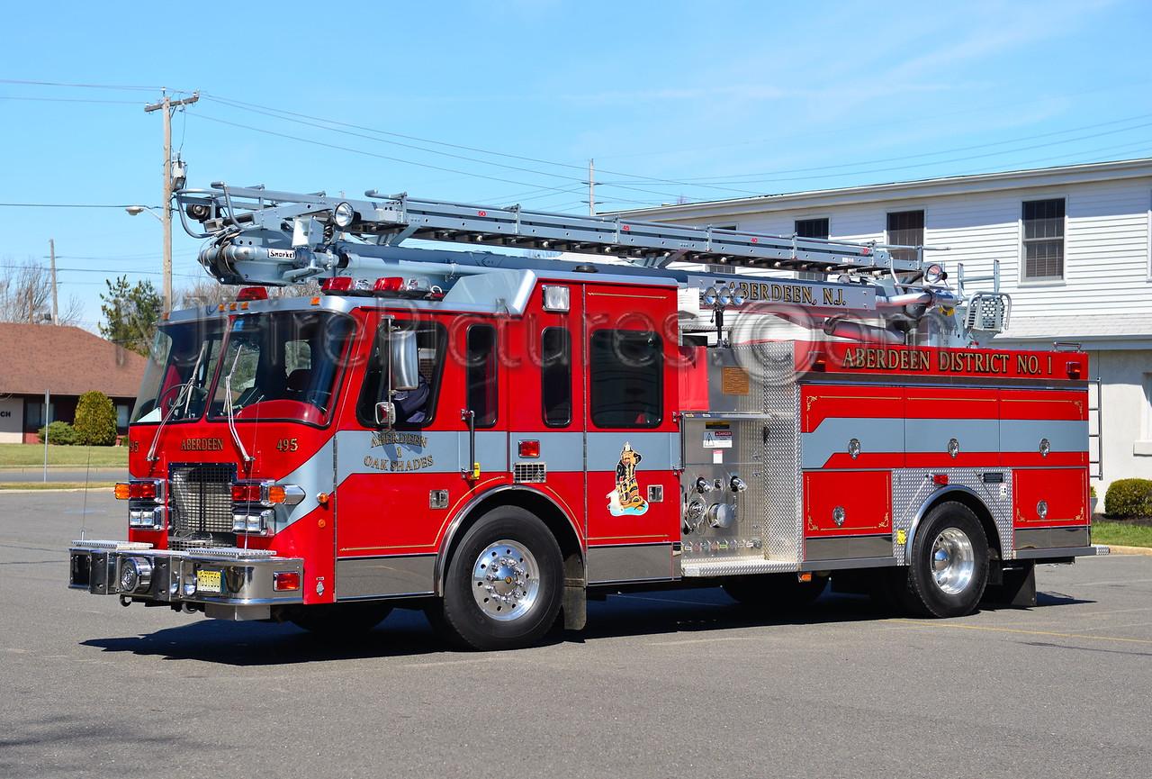 ABERDEEN NJ OAK SHADES FIRE CO. LADDER 495