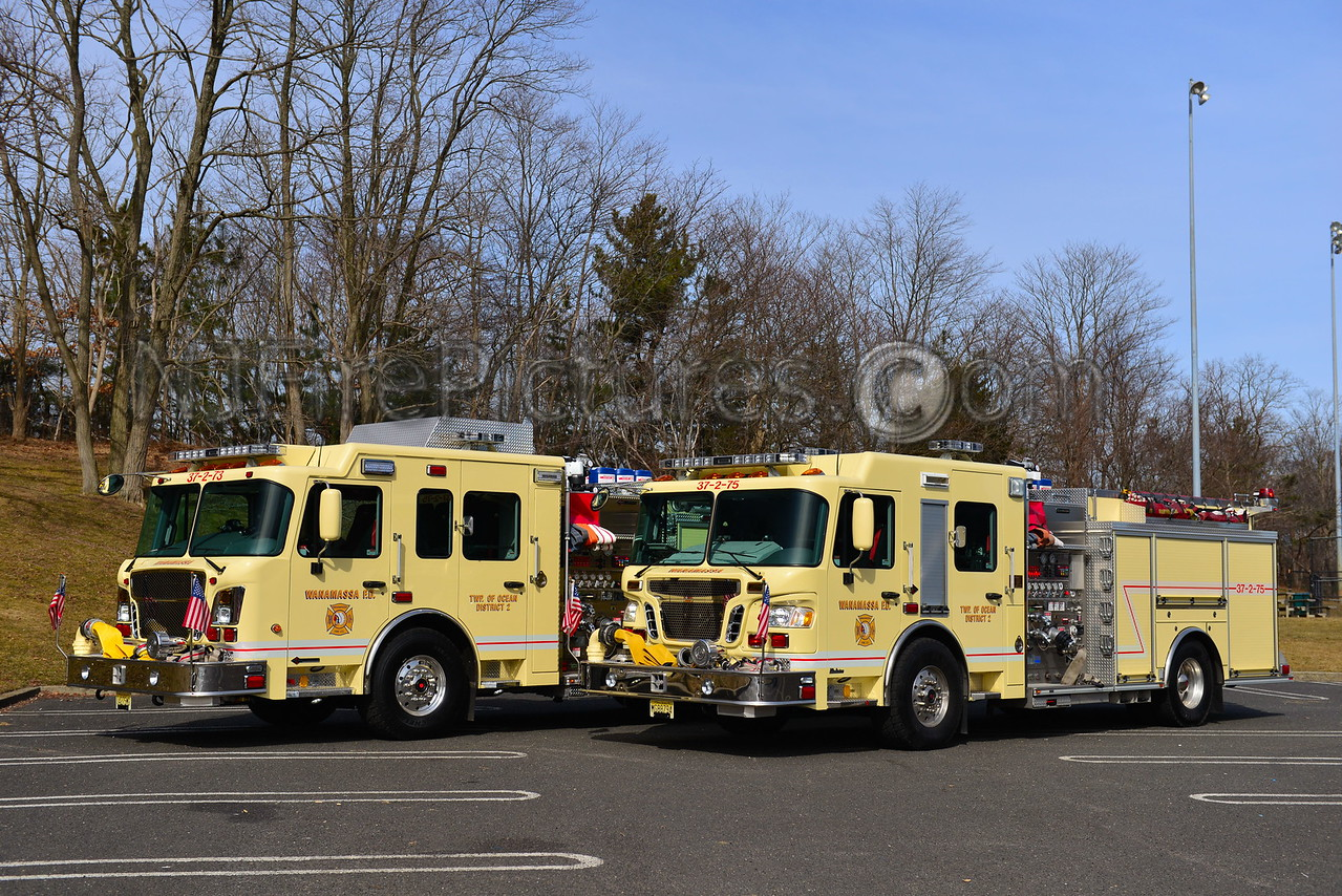 OCEAN TWP, NJ WANAMASSA FIRE CO. ENGINE 37-2-73 & 37-2-75