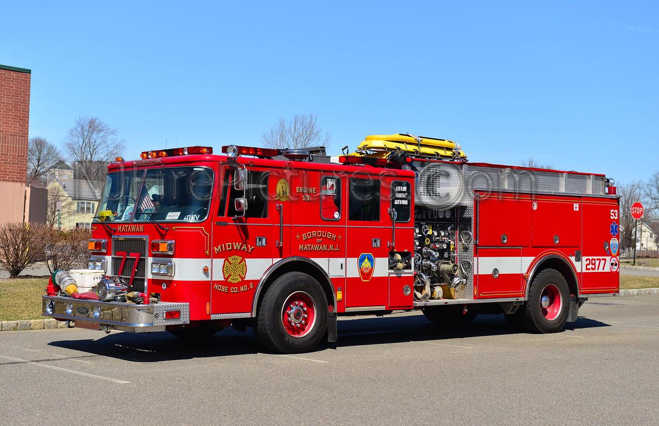 MATAWAN NJ MIDWAY HOSE CO. 2 ENGINE 2977