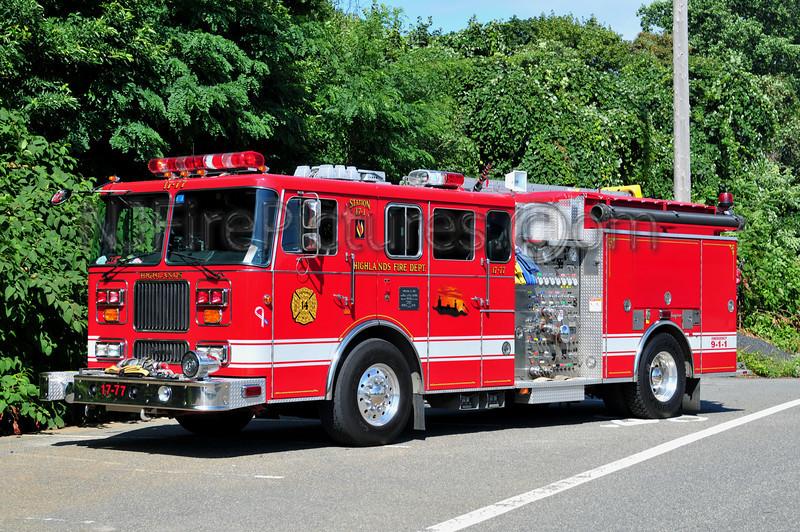 HIGHLANDS, NJ ENGINE 17-77 - 1995 SEAGRAVE 1500/1000/30