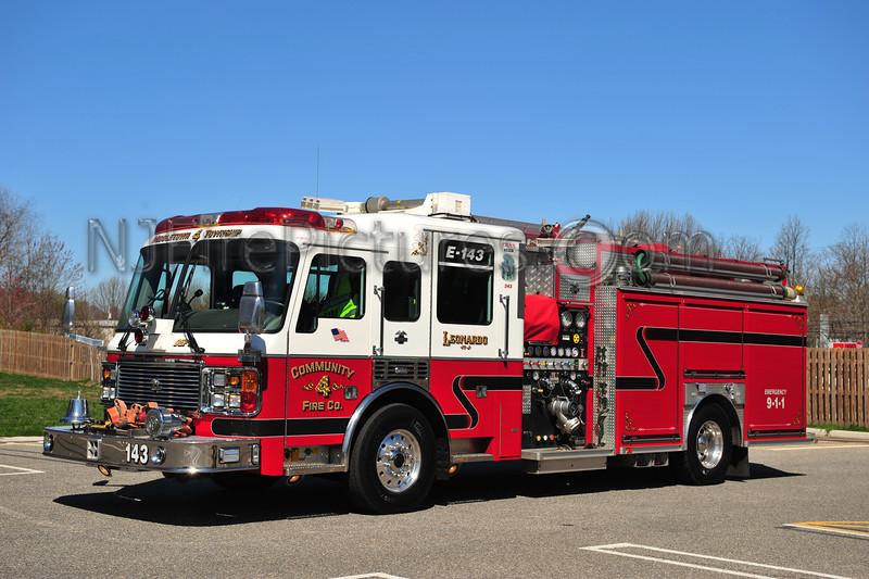 MIDDLETOWN, NJ ENGINE 143 - 2002 AMERICAN LAFRANCE/BECKER 2000/750/50 COMMUNITY FIRE CO.