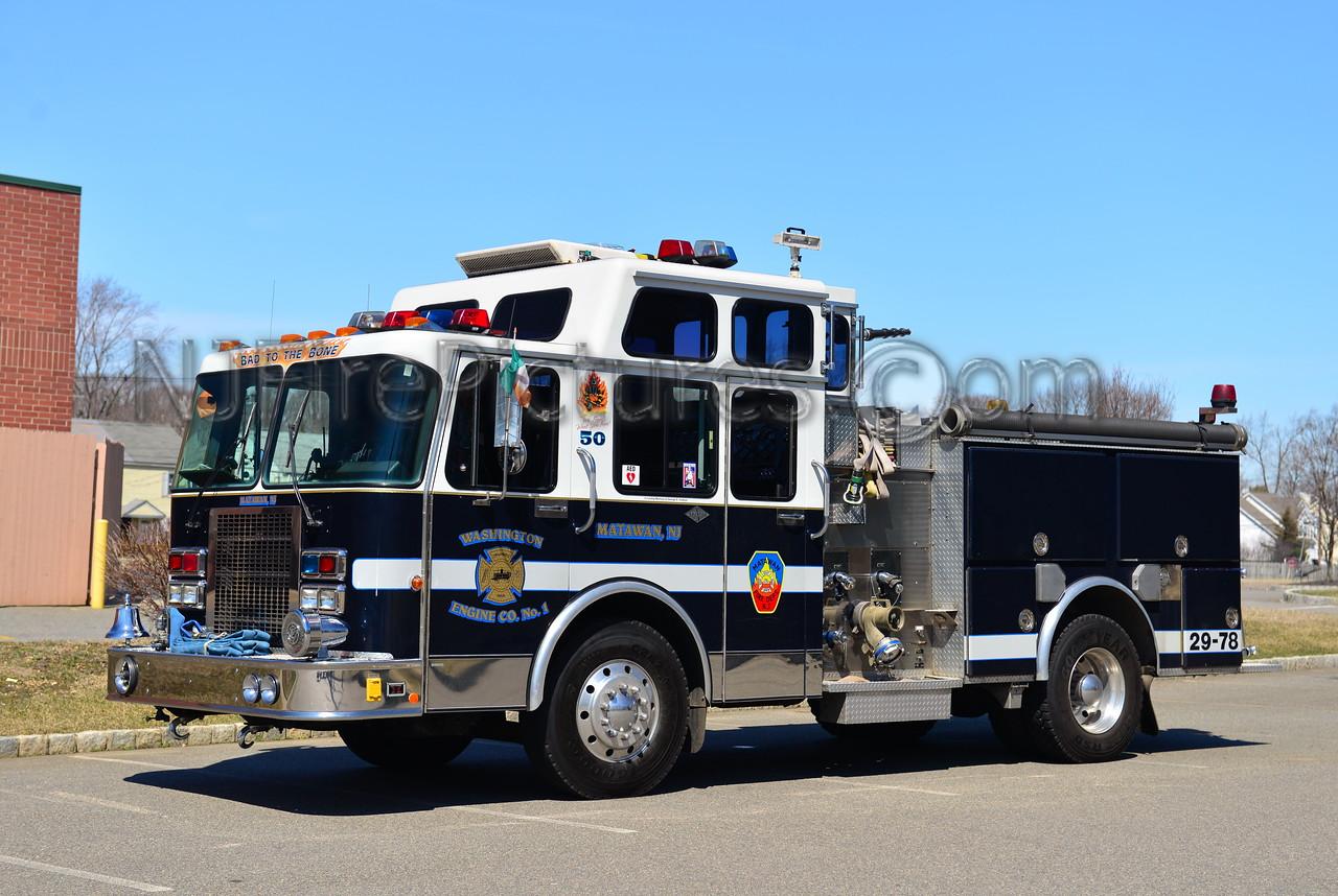 MATAWAN NJ WASHINGTON ENGINE CO. 1 ENGINE 29-78