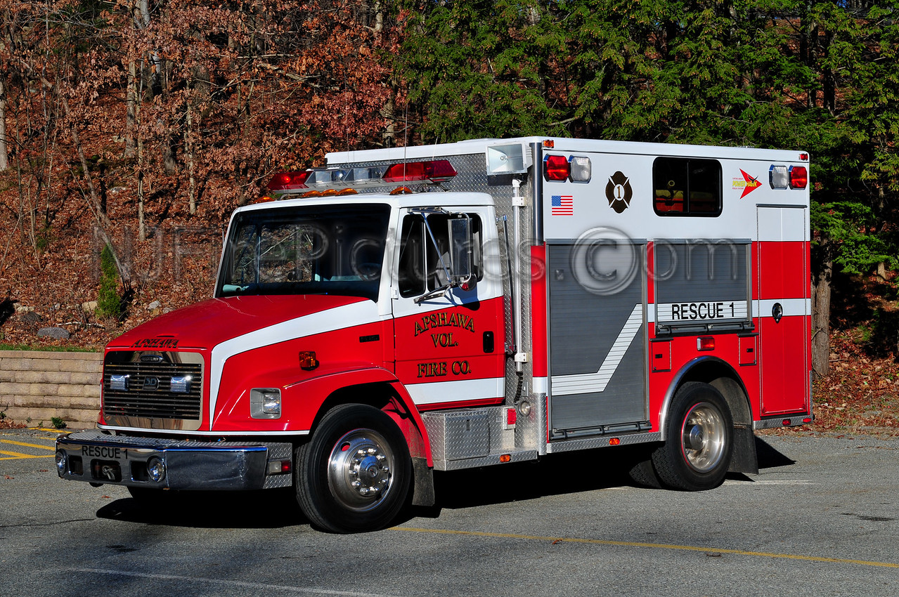 WEST MILFORD, NJ RESCUE 1 - 1998 FREIGHTLINER/3D  APSHAWA FIRE CO. 1