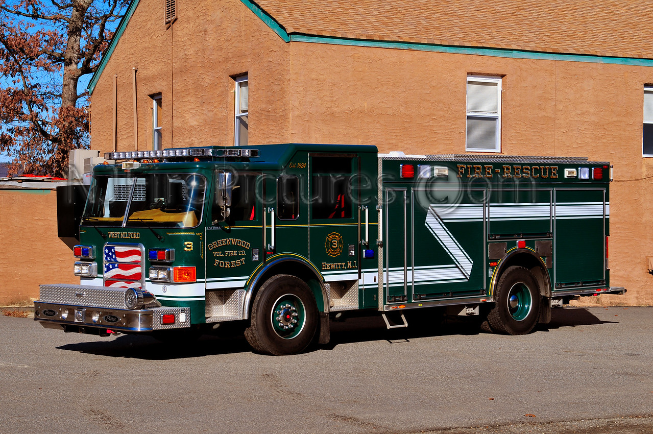 WEST MILFORD RESCUE 3 - 2007 PIERCE ENFORCER1500/600/30 GREENWOOD FOREST FIRE CO.