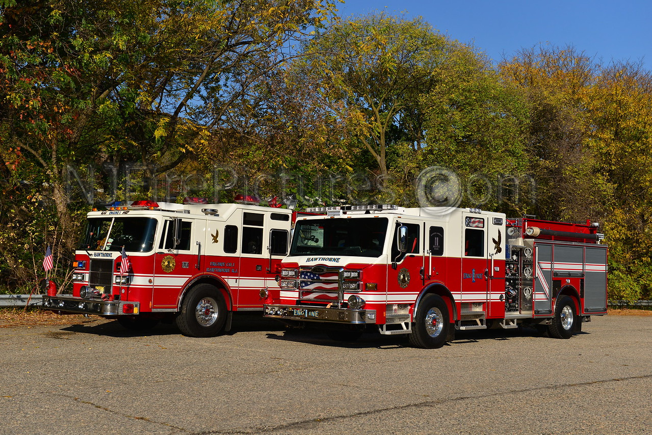 HAWTHORNE NJ ENGINE 1 OLD AND NEW
