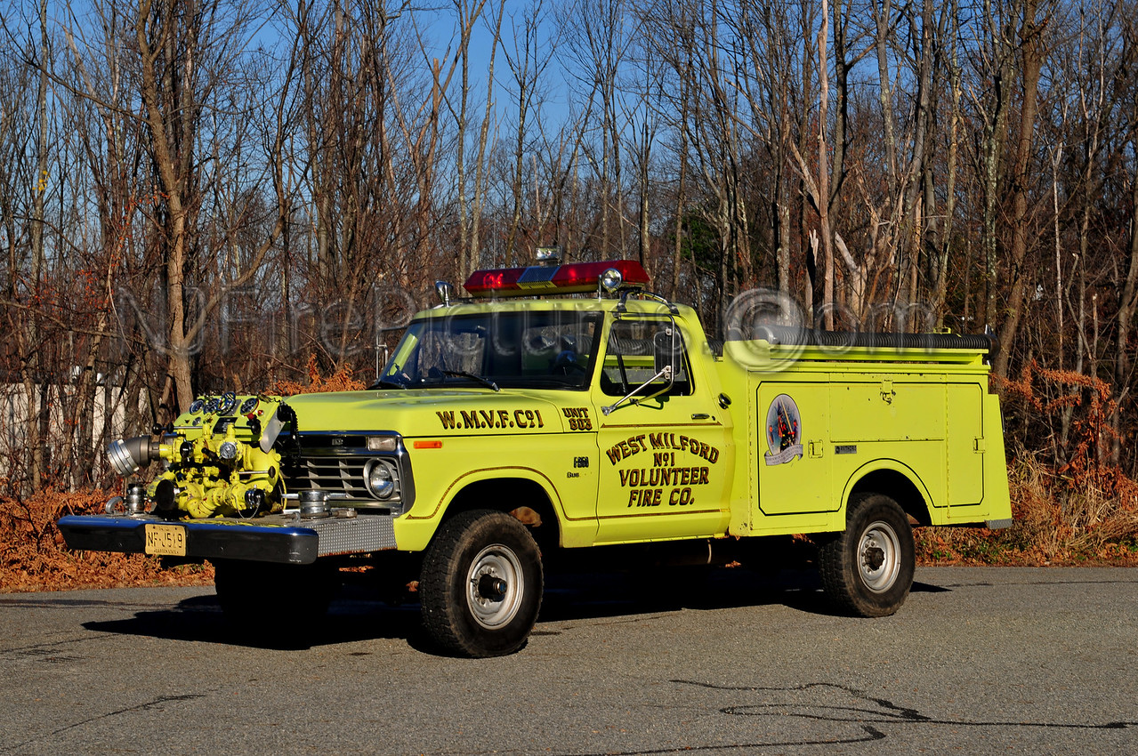 WEST MILFORD PUMPER 6 - 1973 FORD F350/AMTHORS 750GPM