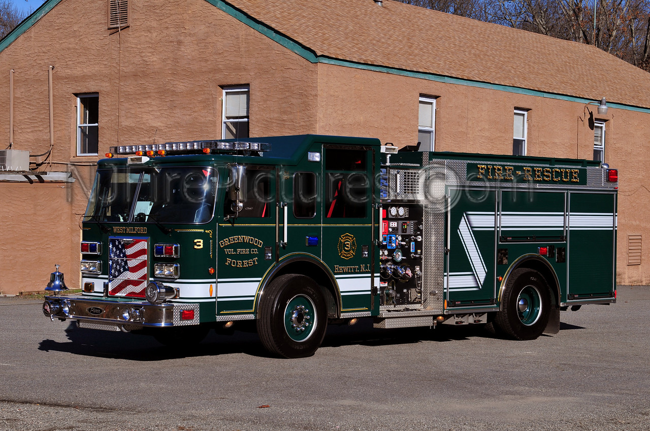 WEST MILFORD ENGINE 3 - 2008 PIERCE CONTENDER 1500/1000/25 GREENWOOD FOREST FIRE CO.