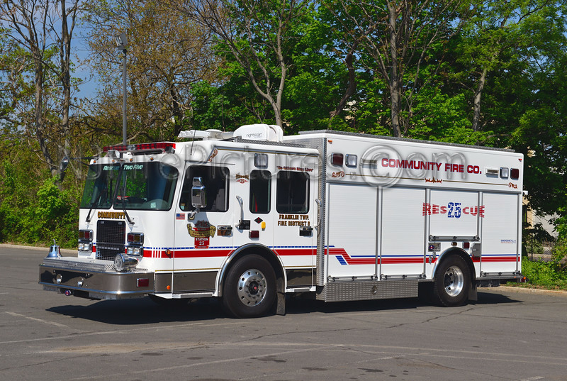FRANKLIN TWP, NJ COMMUNITY FIRE CO. RESCUE 25