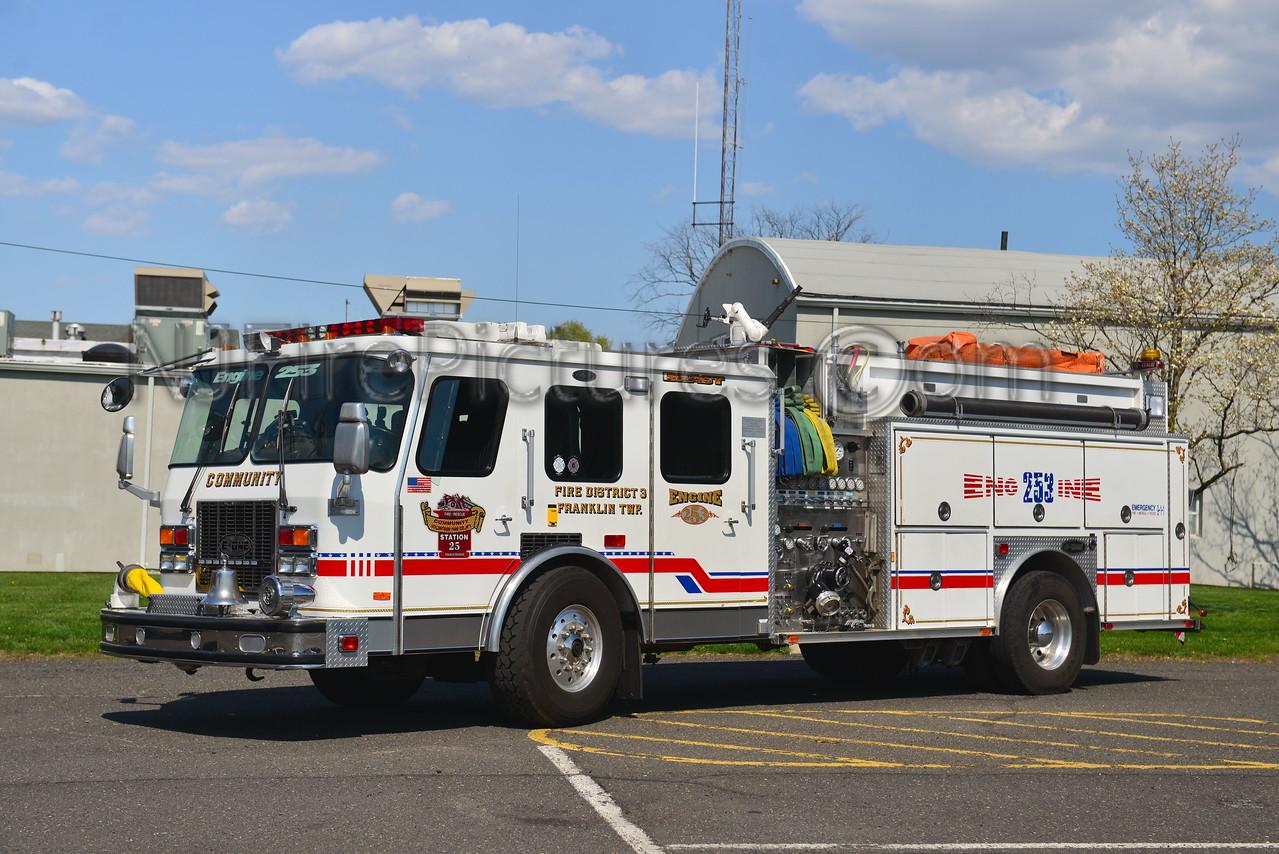 FRANKLIN TOWNSHIP, NJ ENGINE 253 COMMUNITY FIRE CO.