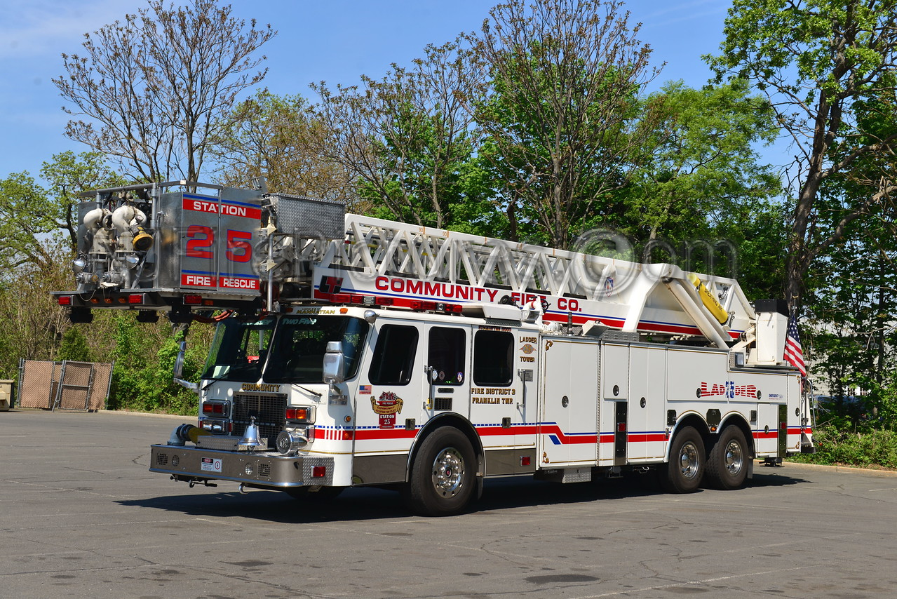 FRANKLIN TWP, NJ COMMUNITY FIRE CO. LADDER TOWER 25