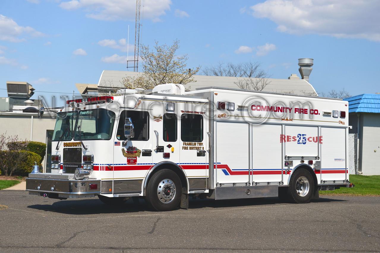 FRANKLIN TOWNSHIP, NJ RESCUE 25 COMMUNITY FIRE CO.