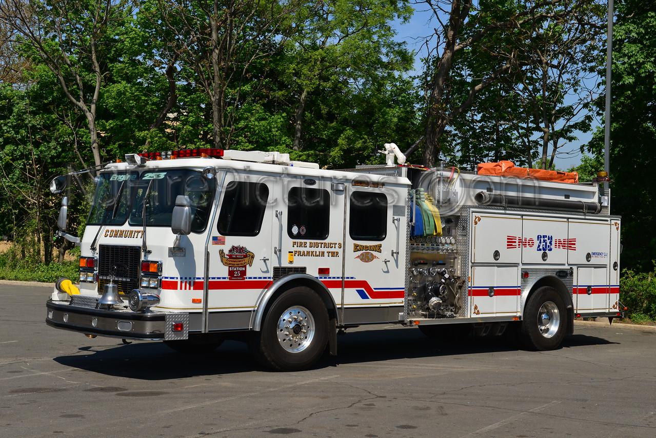 FRANKLIN TWP, NJ COMMUNITY FIRE CO. ENGINE 253