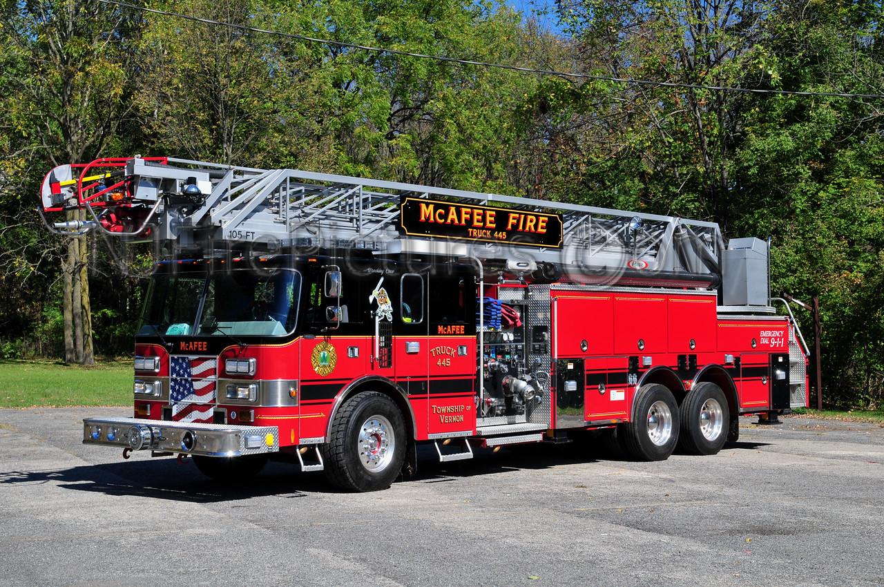 VERNON, NJ (McAFEE) TRUCK 445