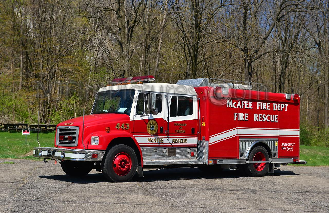 VERNON TWP, NJ (McAFEE FIRE CO.) RESCUE 443