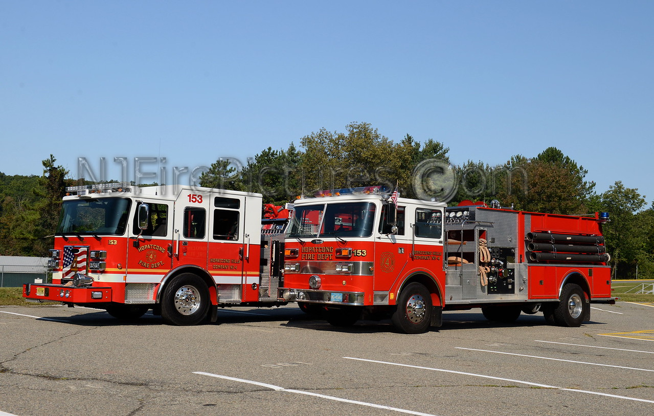 HOPATCONG, NJ ENGINE 153 OLD & NEW