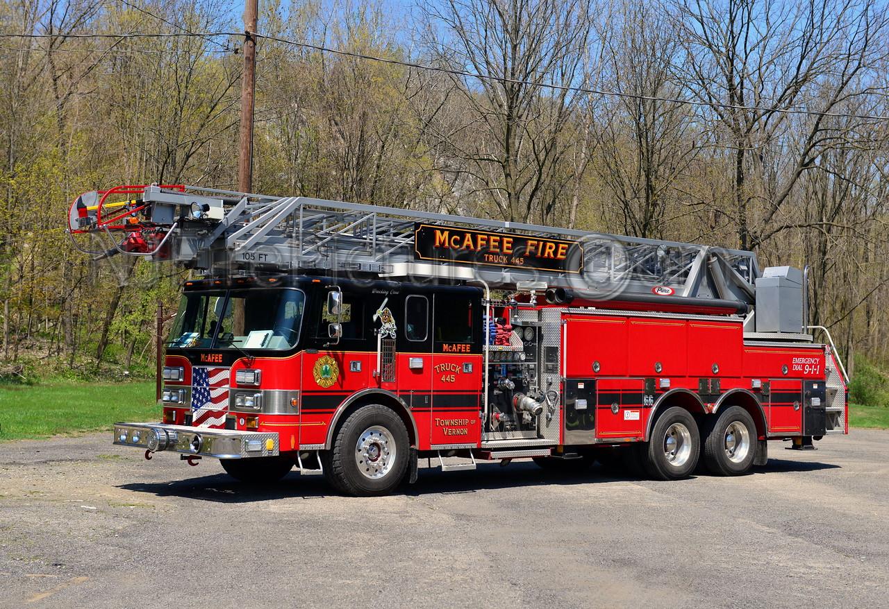 VERNON TWP, NJ (McAFEE FIRE CO.) TRUCK 445
