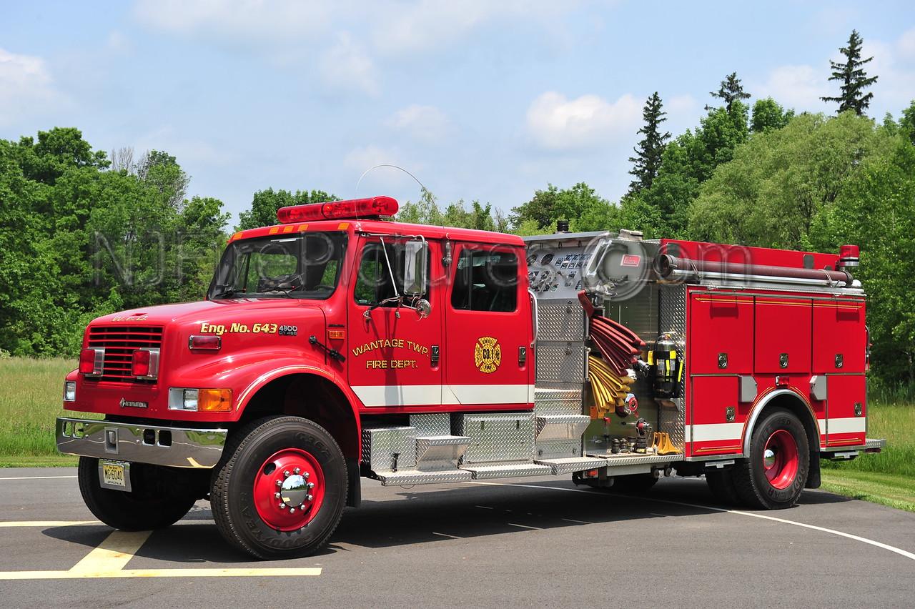 WANTAGE TWP, NJ (BEEMERVILLE FIRE CO.) ENGINE 643