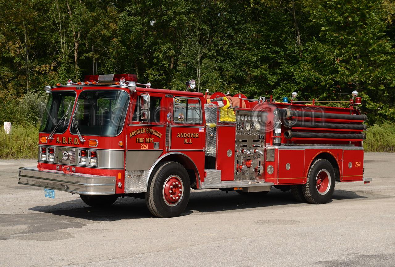 ANDOVER BOROUGH, NJ ENGINE 2261