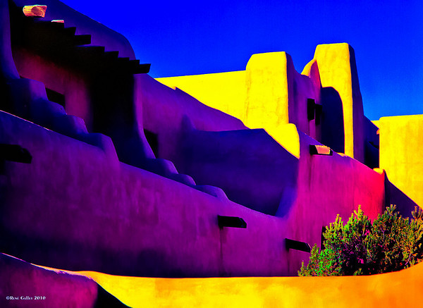 "'Santa Fe Color'. Santa Fe, NM   12""x16"" on 13""x19"" Fine Art paper (270 gram) limited edition of 25"