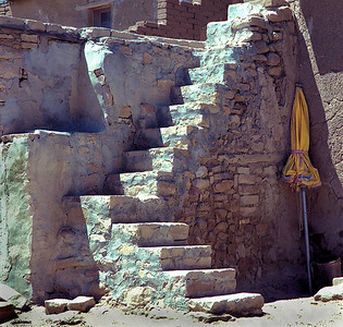 'The Yellow Umbrella' Acoma Pueblo,  New Mexico   limited edition of 50