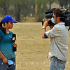 Cristina Rodda (KOB-TV Albuquerque) reports live from Reserve, NM on the Wallow Fire firefighting efforts.-Catron County, NM