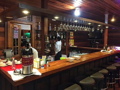 The welcoming bar is fully stocked, and everything from mineral water and soft drinks to wine and caipirinhas is included.