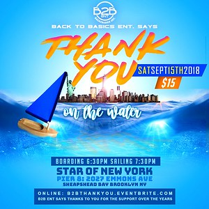 "BACK TO BASICS BRINGS THANK YOU ON THE WATER ""coming soon"""