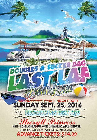 "DOUBLES & SUCKER BAG  LASTLAP BOATRIDE #1 ""coming soon"""
