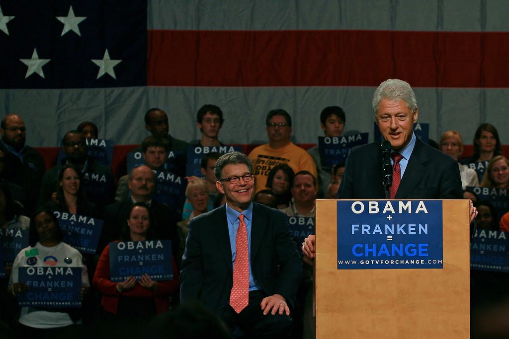 President Clinton & Al Franken - Minneapolis, MN