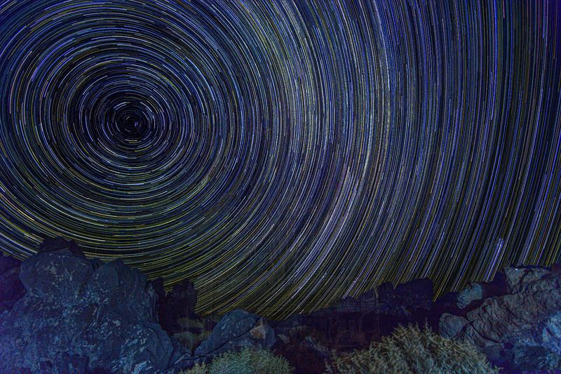 Star Trail at Fossil Falls
