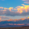 The rays of the sun are about to reach the Owens Valley.