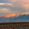 Sunrise on the eastern face of the Sierra.