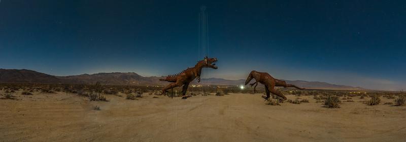 T Rex in the moonlight.