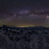 The Milky Way arch, you can see Saturn just rising over the hills to the left of the core.