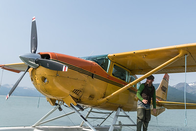 Jerry and float plane, Kodiak, Alaska