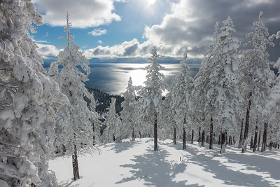 LAKE TAHOE - WINTER VIEW
