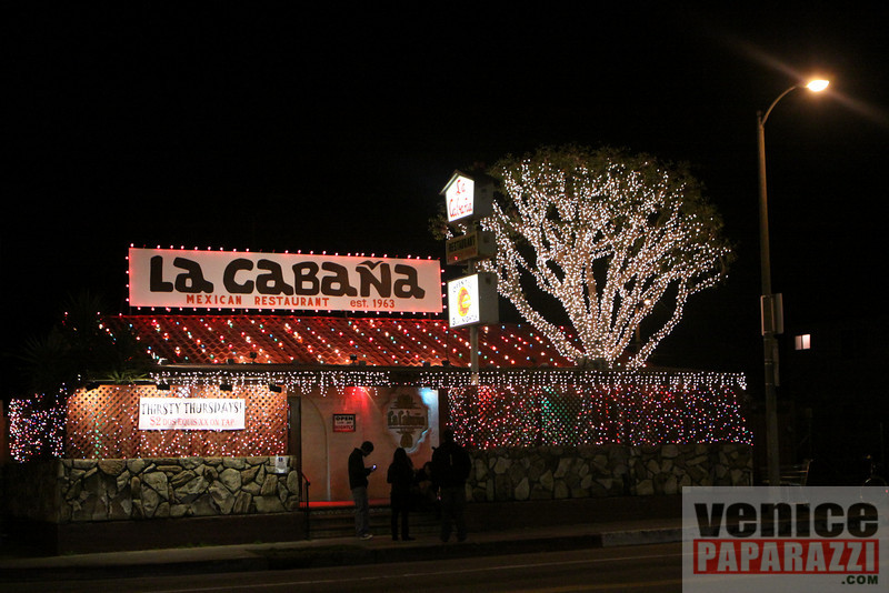 """La Cabana is open till 3:00 a.m. nightly. La Cabana is located at 738 Rose Ave, Venice CA.   Phone:310.392.7973    <a href=""""http://www.lacabanavenice.com"""">http://www.lacabanavenice.com</a>. Photo by Venice Paparazzi  <a href=""""http://www.venicepaparazzi.com"""">http://www.venicepaparazzi.com</a>"""