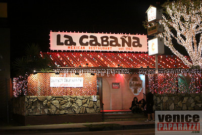 La Cabana is open till 3:00 a.m. nightly. La Cabana is located at 738 Rose Ave, Venice CA.   Phone:310.392.7973   www.lacabanavenice.com. Photo by Venice Paparazzi www.venicepaparazzi.com