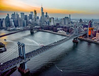 BRIDGES WITH LOWER MANHATTAN
