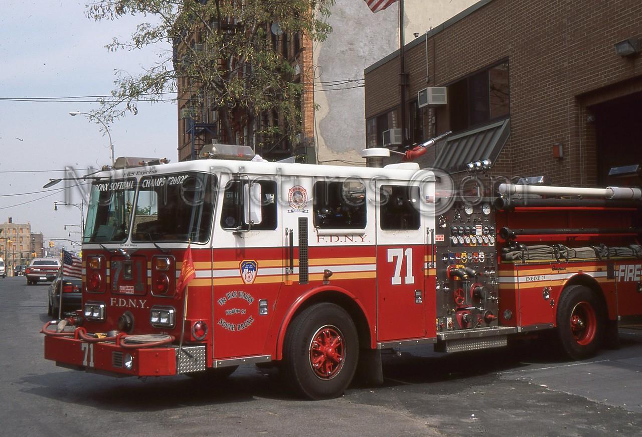BRONX NY ENGINE 71