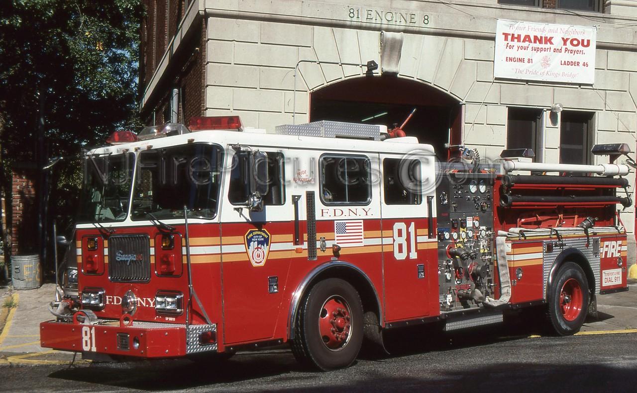 BRONX NY ENGINE 81