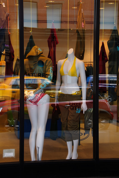 Even the mannequins were feeling hot today...