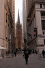 Trinity Church in the end of Wall Street