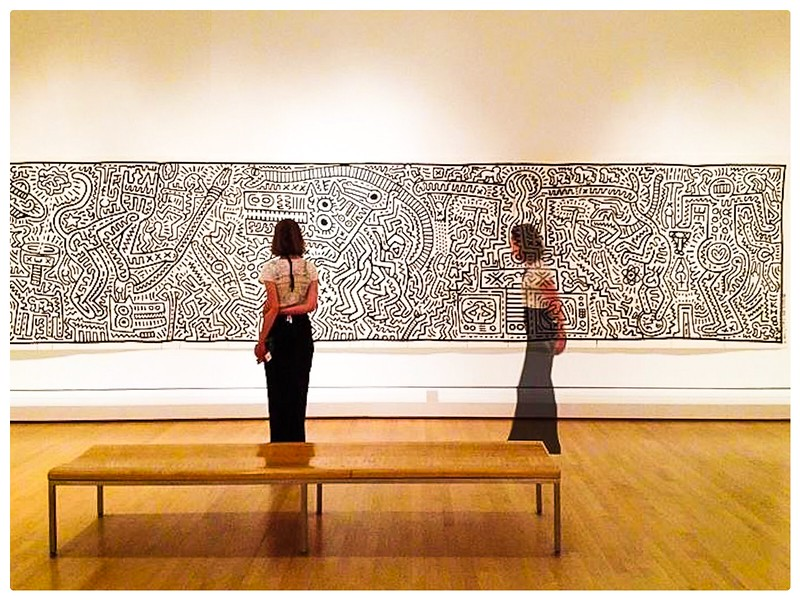 Ghost Sighting<br /> Keith Haring at Brooklyn Museum<br /> Prospect Heights