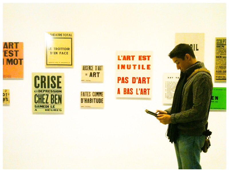 Absence D'Art = Art<br /> Letterpress Posters<br /> Ben Vautier, 1964<br /> MoMA