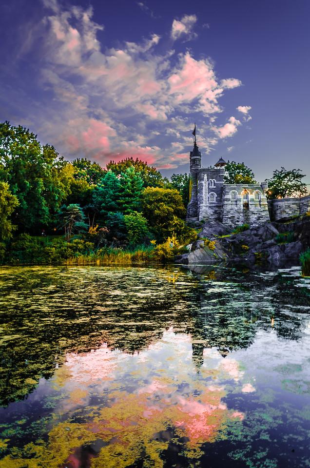 Central Park Castle Painting