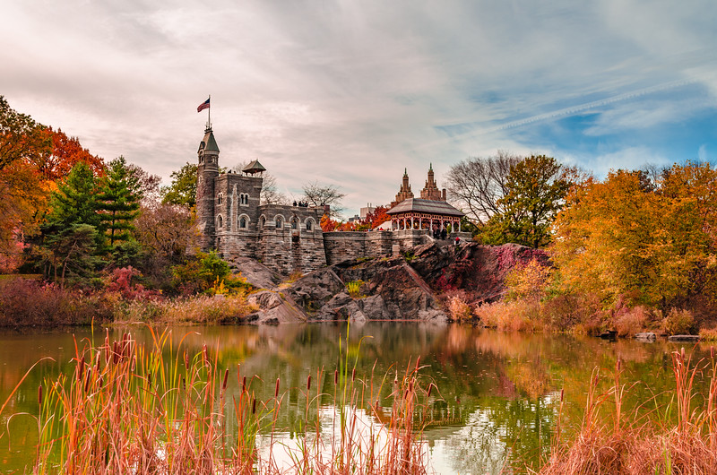 Central Park Castle in Fall