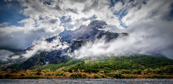 Cloud Embraces Mountain At Monkey Creek